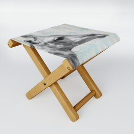 Retro Giraffe Folding Stool