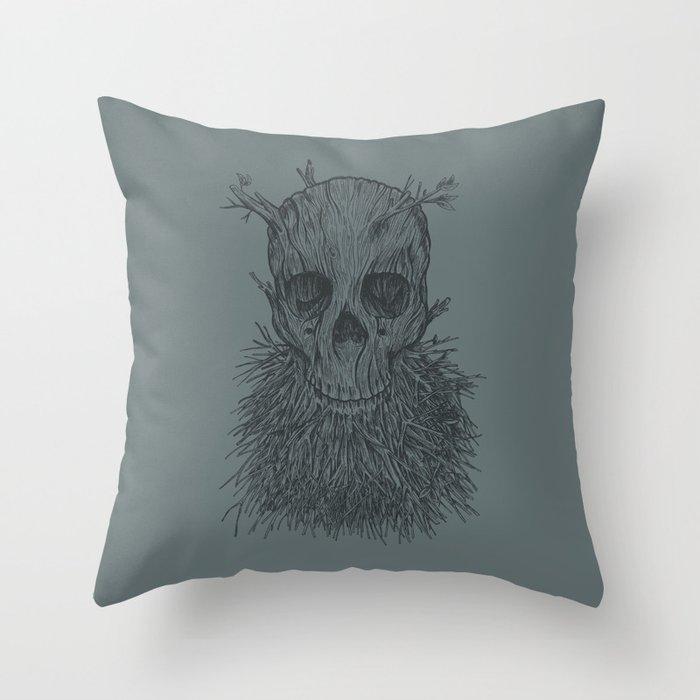 The Lumbermancer (Grey) Throw Pillow