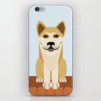 vector iPhone & iPod Skins featuring Shiba dog vector by TIERRAdesigner