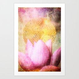 Lotus Sun Art Print