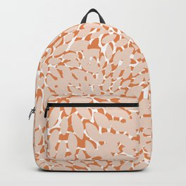 Festive, Floral Prints, Peachy Pink and Coral Backpack