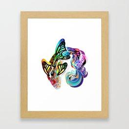 Butterfly Koi Framed Art Print