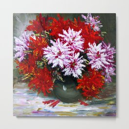 Holiday chrysanthemums Metal Print