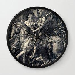 Albrecht Durer Knight Death And Devil Wall Clock