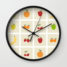 AFE Fruit Grid Wall Clock