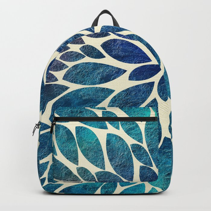 Petal Burst - Turquoise Backpack