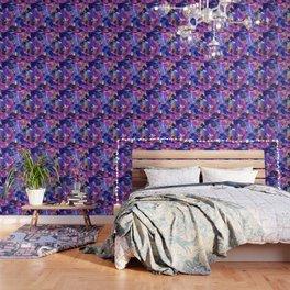 Monet's Violet Garden Wallpaper