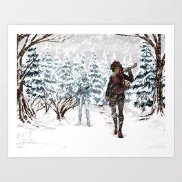 Under the Dead Skies - Snow Art Print