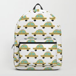 Hand Drawn Taxi Cab Pattern Backpack