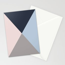 Geometric triangles multi colours- collection mix & match Stationery Cards