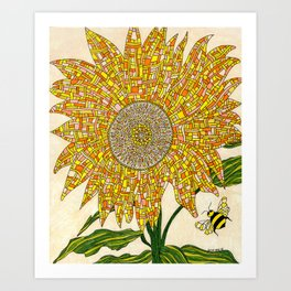 Georgia Sunflower Art Print