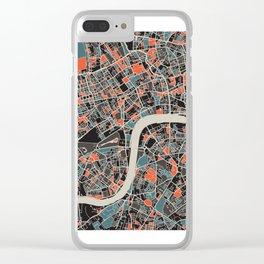 London Multicoloured Print Clear iPhone Case