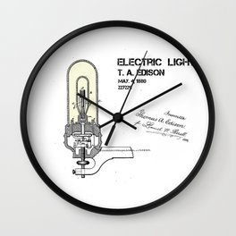 Edison electric light patent Wall Clock