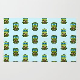 Chibi Leonardo Ninja Turtle Rug