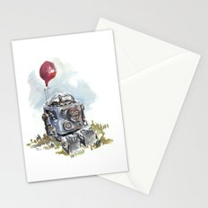 Robot with balloon Stationery Cards