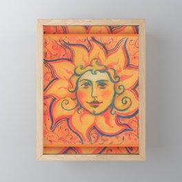 Celestial Sun Framed Mini Art Print