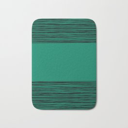 Black and green abstract pattern Bath Mat