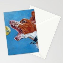 Brittany Spaniel Dog Portrait Stationery Cards