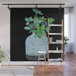 Succulent in a Vase Wall Mural