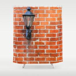 Brick Wall Light Shower Curtain