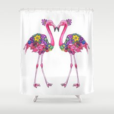 Fancy Felicity Flamingo Shower Curtain