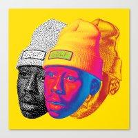 odd future Canvas Prints featuring Tyler the Creator Odd Future OFGWKTA Glitch Art by AyeYoKP