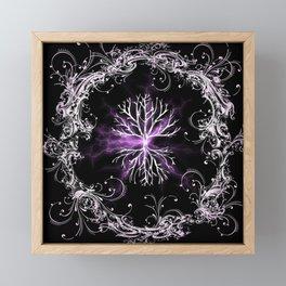 Tree of Life, Purple Universe, Cosmic Tree Framed Mini Art Print