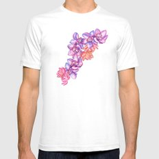 Orchid Splash SMALL Mens Fitted Tee White