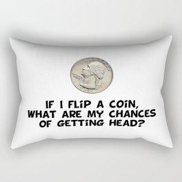 Flip a Coin Rectangular Pillow