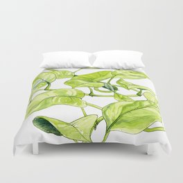 Devils Ivy Illustration Duvet Cover
