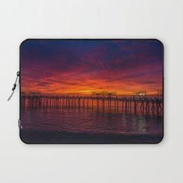 Redondo Pier Sunset Laptop Sleeve