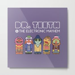 Dr. Teeth & The Electric Mayhem – The Muppets Metal Print