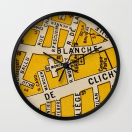 All About Paris I Wall Clock