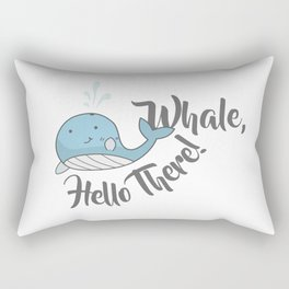 Whale, Hello There! Rectangular Pillow