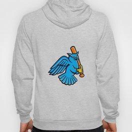 Great Horned Owl Baseball Mascot Hoody