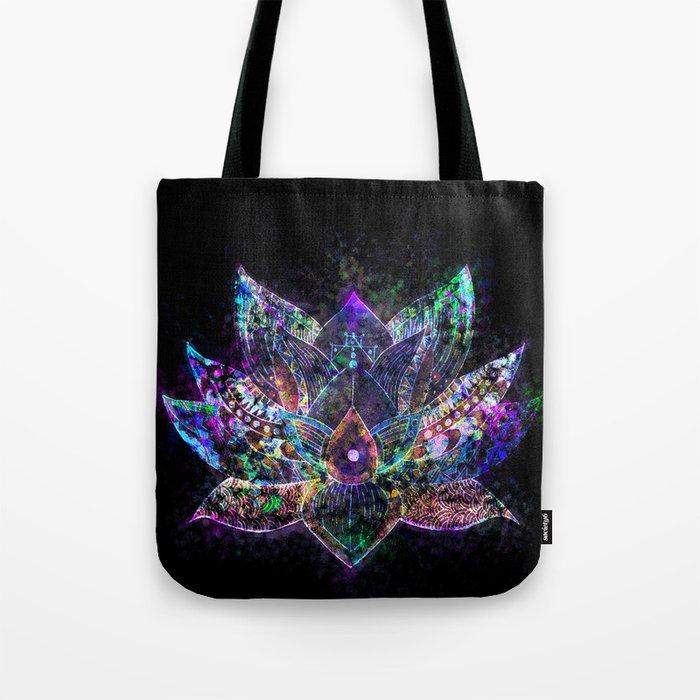 Lotus Flower Glow Tote Bag