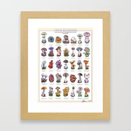Devon Mushrooms Framed Art Print