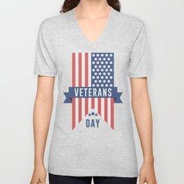 Veterans Day Commemorative Design Unisex V-Neck