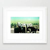 tokyo Framed Art Prints featuring TOKYO by very giorgious