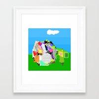 katamari Framed Art Prints featuring Little Katamari by CatOverlord