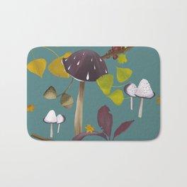 Autum mushroom romance Bath Mat