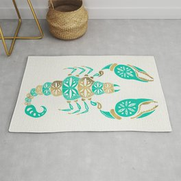 Scorpion – Turquoise & Gold Rug