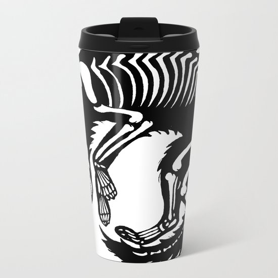 Wolf Bones Metal Travel Mug