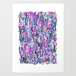 Alphabet Color 2 Art Print