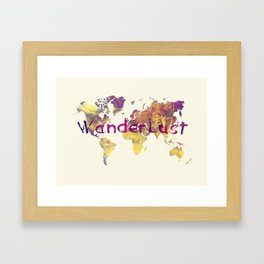 world map 90 wanderlust Framed Art Print