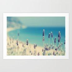 beach - lavender blues Art Print