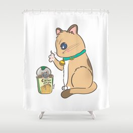 Instant meal Shower Curtain