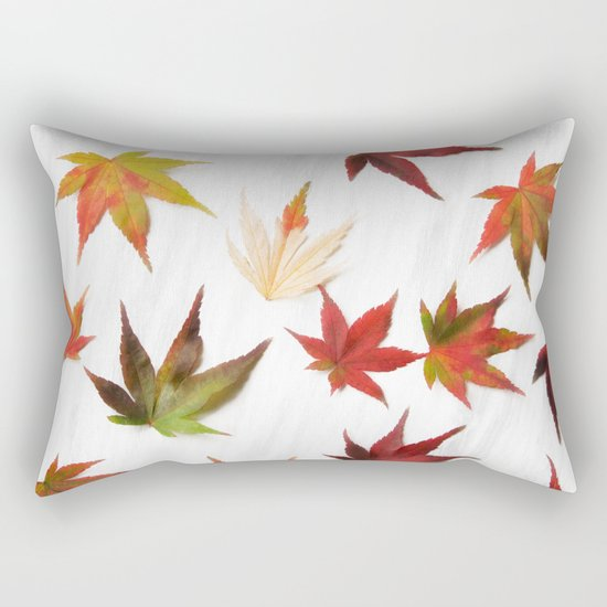 AUTUMN LEAVES PATTERN #2 #decor #art #society6 Rectangular Pillow