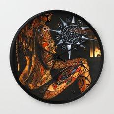 Psychoactive Bear 3 Wall Clock
