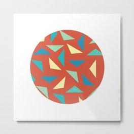 circular triangular Metal Print